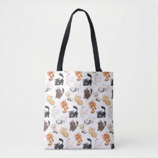 Bolsa Tote Impressão adorável dos gatos do gatinho