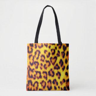 Bolsa Tote Impressão animal dos pontos exóticos do leopardo