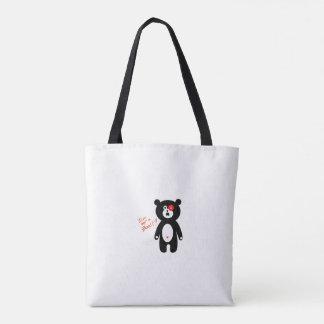 Bolsa Tote impressão bonito do ragdoll do urso