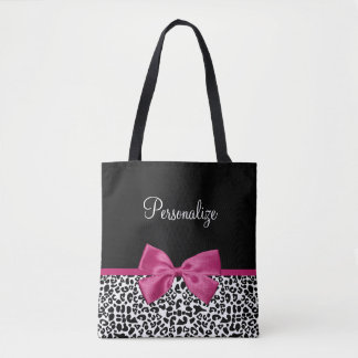 Bolsa Tote Impressão cor-de-rosa escuro Vivacious do leopardo
