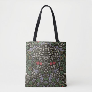 Bolsa Tote Impressão da arte da tapeçaria da ameixoeira-brava