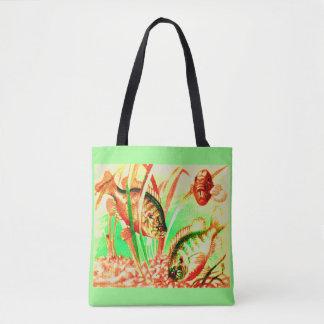 Bolsa Tote impressão de água doce do sunfish