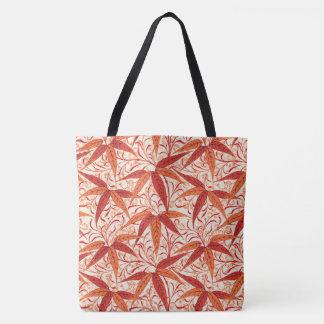 Bolsa Tote Impressão de bambu de William Morris, tanjerina
