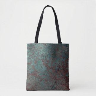 """Bolsa Tote Impressão """"de cobre"""" da corrosão por todo o lado"""