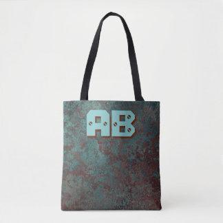 """Bolsa Tote Impressão """"de cobre"""" do monograma da corrosão por"""