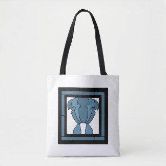 Bolsa Tote Impressão do artista do azulejo da tulipa