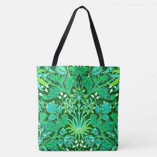 Bolsa Tote Impressão do jacinto de William Morris, verde