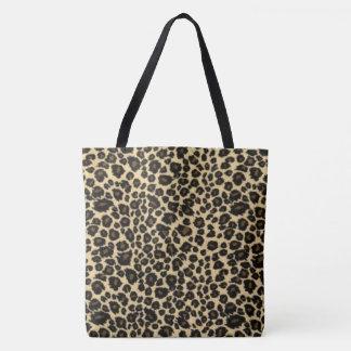 Bolsa Tote Impressão do leopardo
