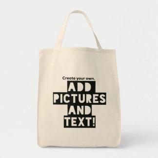 Bolsa Tote Impressão em uma SACOLA - adicione fotos e texto!