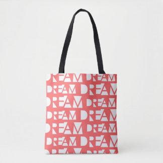 Bolsa Tote Impressão geométrico ideal cor-de-rosa do entalhe
