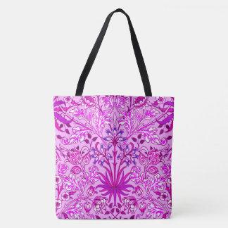 Bolsa Tote Impressão, lavanda e violeta do jacinto de William