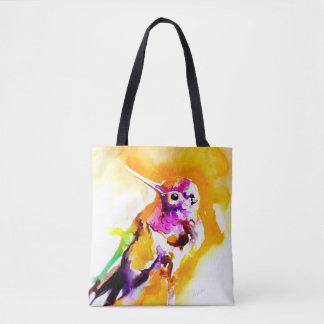Bolsa Tote Impressão lindo do colibri do Gorget