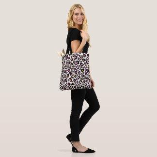 Bolsa Tote Impressão/rosa do leopardo de PixDezines+Bckground
