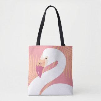 Bolsa Tote Impressão tropical do flamingo