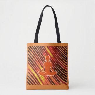 Bolsa Tote Impressões da meditação (alaranjadas)