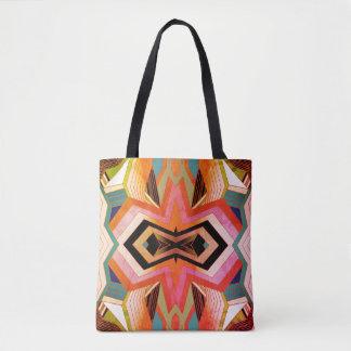 Bolsa Tote Impressões geométricas do vintage colorido