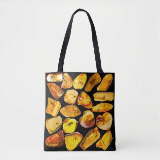 Bolsa Tote Inclusões de pedra ambarinas