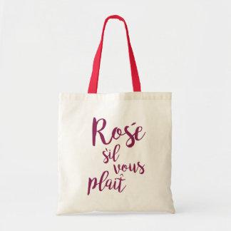 Bolsa Tote Indicação vous da dobra do sil engraçado de Rosé