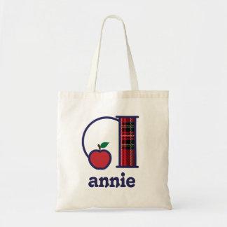 Bolsa Tote Inicial a da sacola do monograma de Apple do