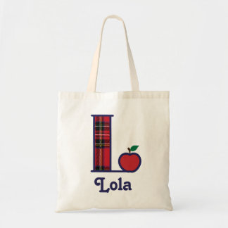 Bolsa Tote Inicial L da sacola do monograma de Apple do