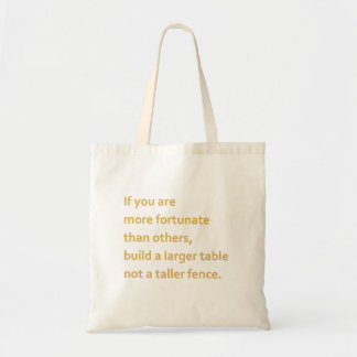 Bolsa Tote Insperational quote!
