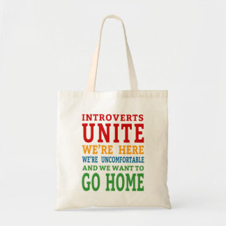 Bolsa Tote Introverts unem-se - nós estamos aqui e queremos