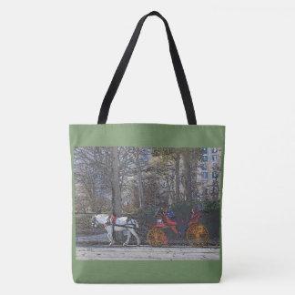 Bolsa Tote Inverno do Central Park/n'carriage do cavalo