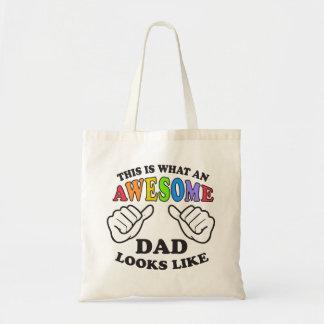 Bolsa Tote Isto é que pai alegre impressionante olha como