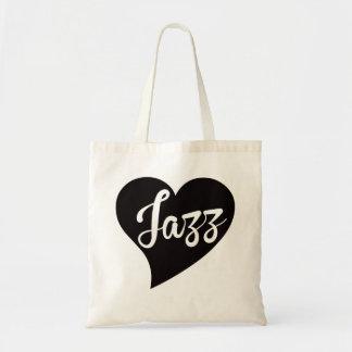 Bolsa Tote Jade grande do coração do jazz