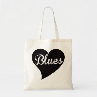 Bolsa Tote Jade grande do coração dos azuis
