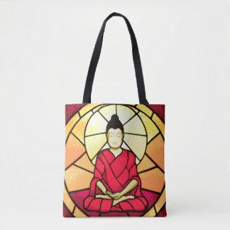 Bolsa Tote Janela de vidro da mancha de Bali buddha