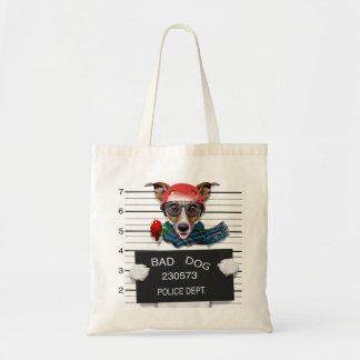 Bolsa Tote Jaque engraçado russell, cão do Mugshot