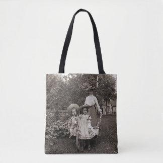 Bolsa Tote Jardim 1890 de jardinagem da herança das filhas da