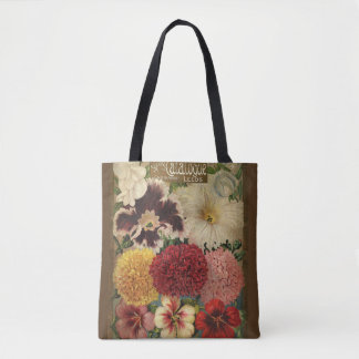 Bolsa Tote jardinando, pacote da semente de flor do vintage,