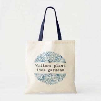 Bolsa Tote Jardins florais da ideia da planta dos escritores