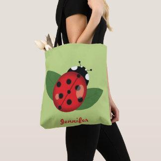Bolsa Tote Joaninha bonito dos desenhos animados com nome de