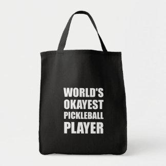 Bolsa Tote Jogador de Okayest Pickleball dos mundos engraçado