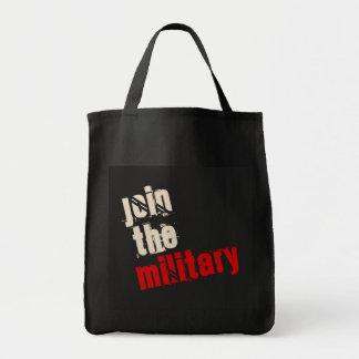 Bolsa Tote Junte-se à sacola militar