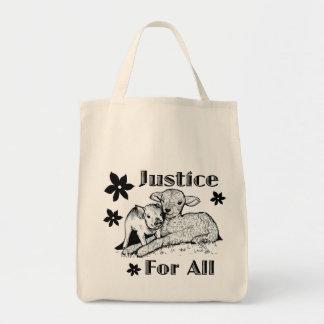 Bolsa Tote Justiça para toda a sacola do mantimento dos