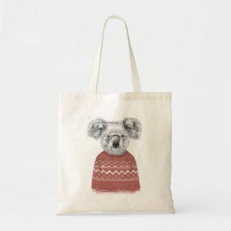 Bolsa Tote Koala do inverno (vermelho)