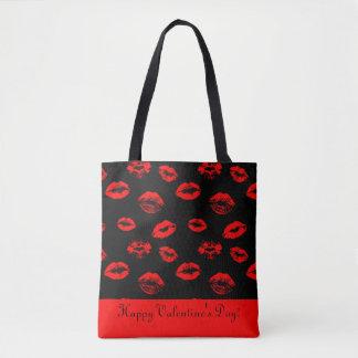 Bolsa Tote Lábios/sacola vermelhos quentes dos beijos
