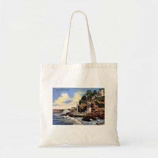 Bolsa Tote Laguna Beach, Califórnia, opinião do vintage