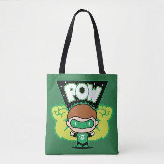 Bolsa Tote Lanterna verde de Chibi que forma os punhos
