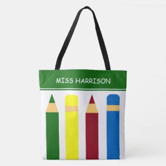 Bolsa Tote Lápis dos dias escolares personalizados
