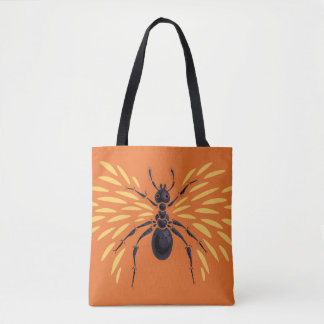 Bolsa Tote Laranja voada da formiga impetuosamente