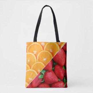 Bolsa Tote Laranjas & colagem das morangos