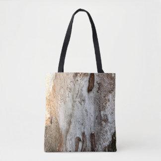 Bolsa Tote Latido de madeira da árvore