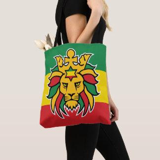Bolsa Tote Leão de Rastafari Dreadlocks de Judah