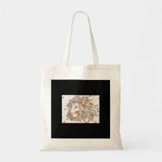 Bolsa Tote Leão e triângulos do ouro
