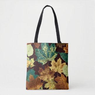 Bolsa Tote Leaves áureas
